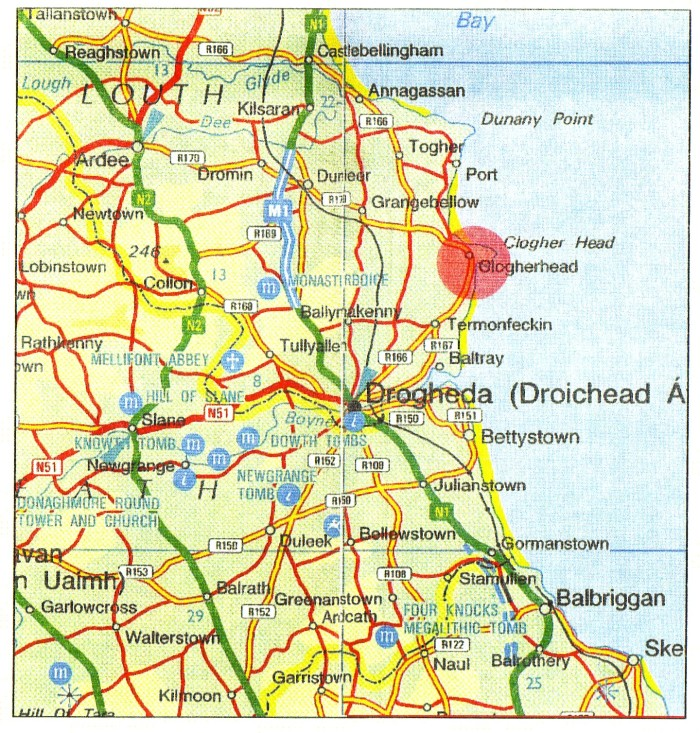 Map A - Location of Clogherhead